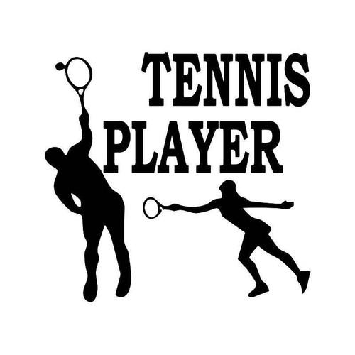 Tennis Player 3 Vinyl Sticker