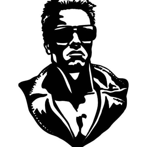Terminator Arnold Vinyl Sticker