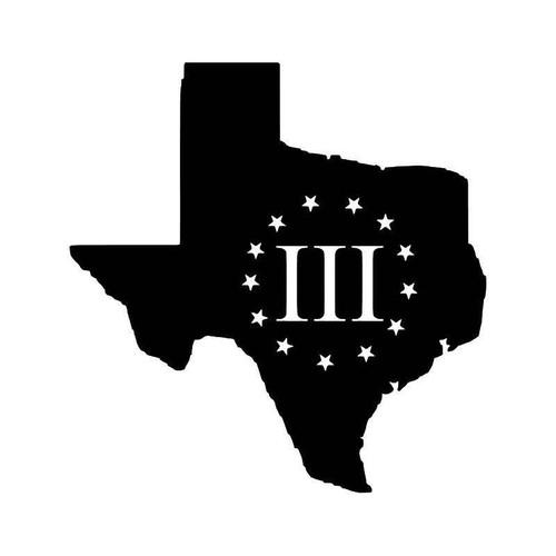 Texas 3 Percenters 2 Vinyl Sticker