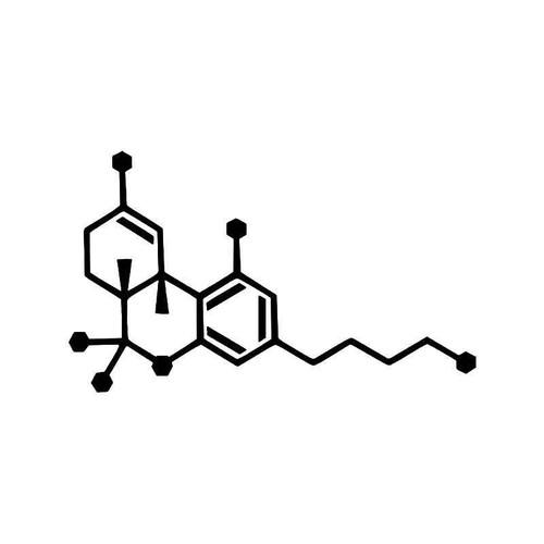 Thc Molecule Weed Vinyl Sticker