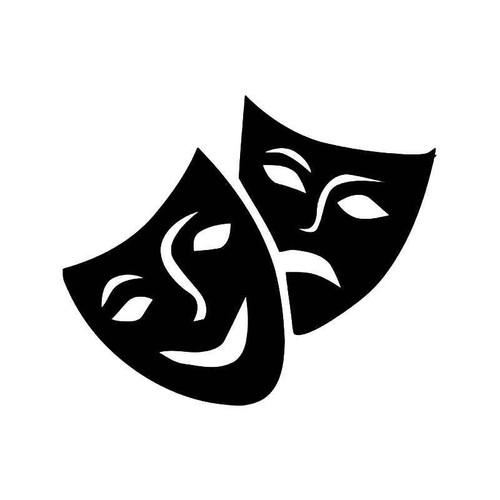 Theater Mask Drama 11 Vinyl Sticker