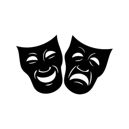 Theater Mask Drama 4 Vinyl Sticker