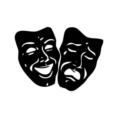 Theater Mask Drama 5 Vinyl Sticker