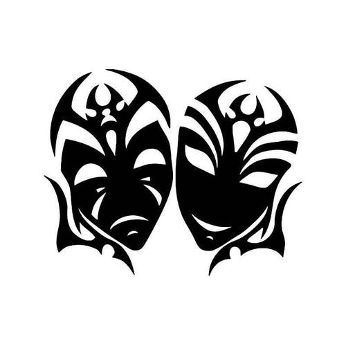 Theater Mask Drama 7 Vinyl Sticker