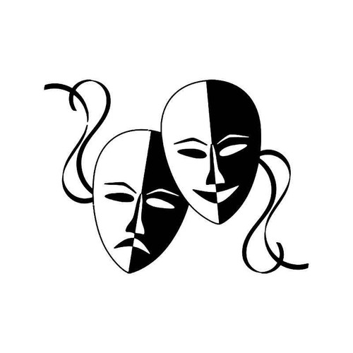 Theater Mask Drama 8 Vinyl Sticker