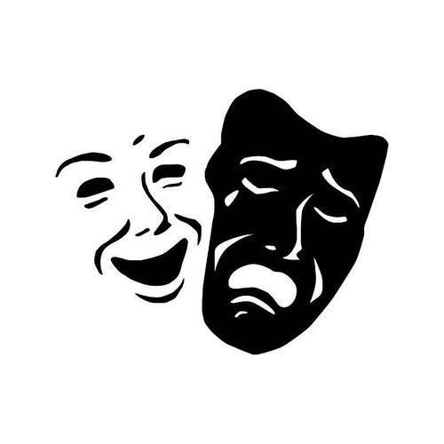 Theater Mask Drama 9 Vinyl Sticker
