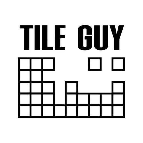 Tile Guy Vinyl Sticker