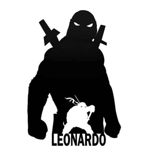 Tmnt Leonardo 1014 Vinyl Sticker