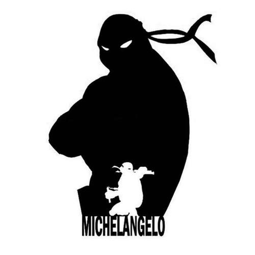 Tmnt Michelangelo 1019 Vinyl Sticker