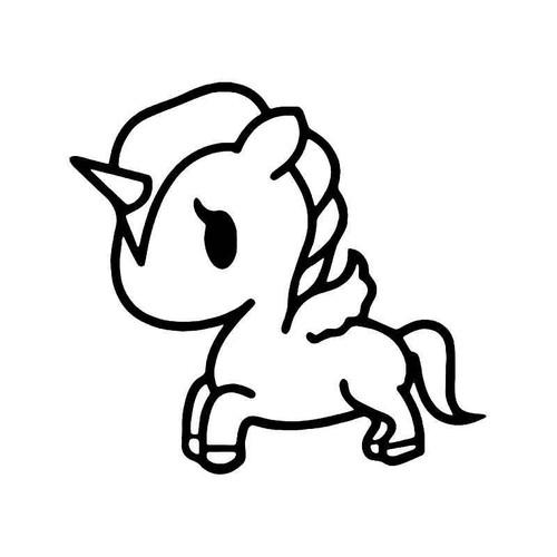 Tokidoiki Unicorn Horse Vinyl Sticker