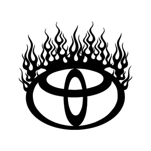 Toyota Flame Vinyl Sticker