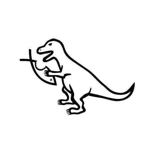 T Rex Dinosaur Eats Jesus Fish Evolution Symbol Vinyl Sticker