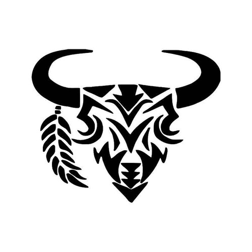 Tribal Buffalo 1 Vinyl Sticker