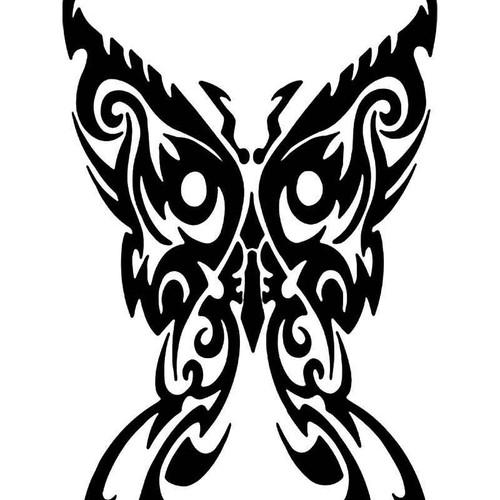 Tribal Butterfly 17 Vinyl Sticker