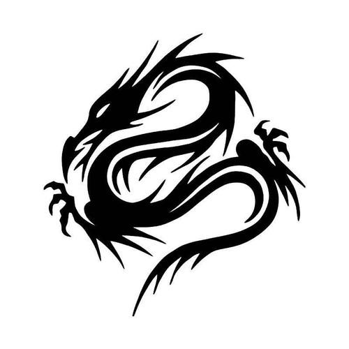 Tribal Chinese Dragon 11 Vinyl Sticker
