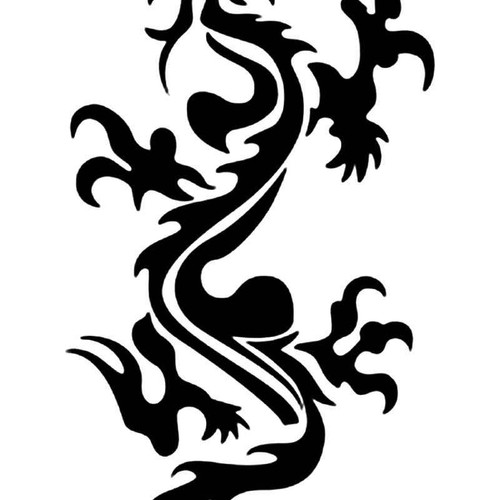 Tribal Chinese Dragon 13 Vinyl Sticker