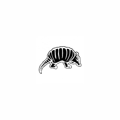 Armadillo Decal (06) Size option will determine the size from the longest side Industry standard high performance calendared vinyl film Cut from Oracle 651 2.5 mil Outdoor durability is 7 years Glossy surface finish