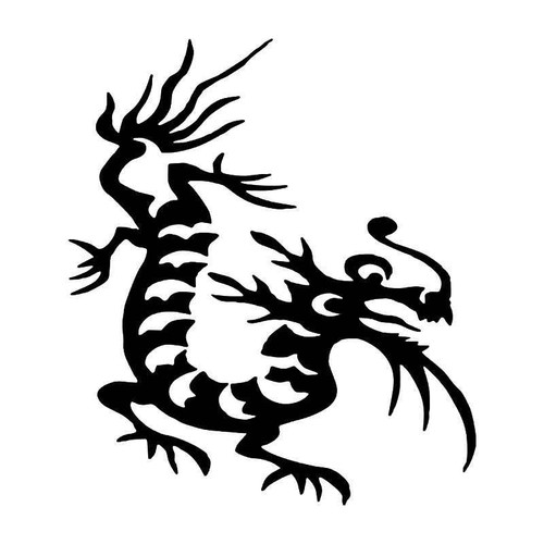 Tribal Chinese Dragon 18 Vinyl Sticker