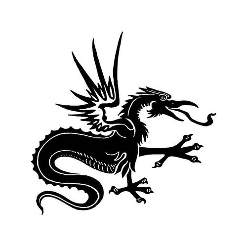 Tribal Chinese Dragon 19 Vinyl Sticker