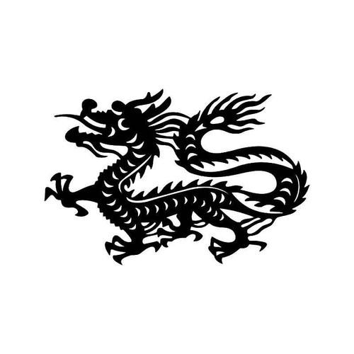 Tribal Chinese Dragon 5 Vinyl Sticker