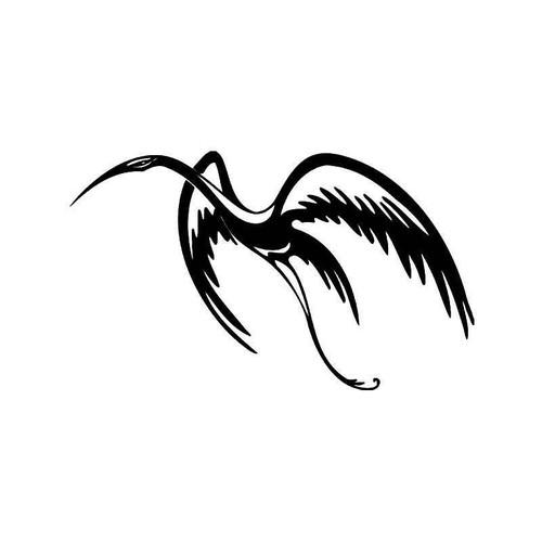 Tribal Crane Bird 1 Vinyl Sticker