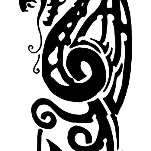 Tribal Dragon 19 Vinyl Sticker