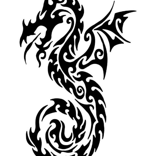 Tribal Dragon 31 Vinyl Sticker