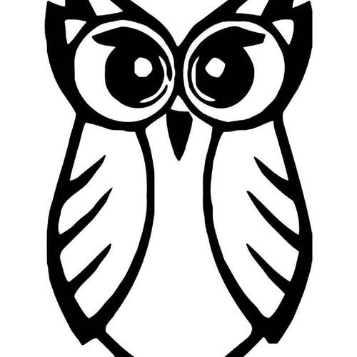 Tribal Owl Bird 10 Vinyl Sticker