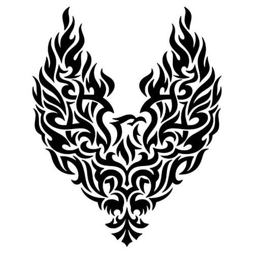 Tribal Phoenix Bird 8 Vinyl Sticker