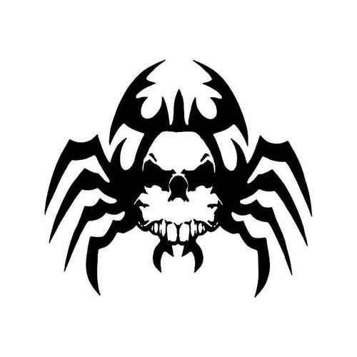 Tribal Spider Skull Vinyl Sticker