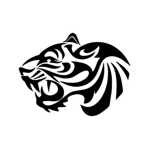 Tribal Tiger Vinyl Sticker