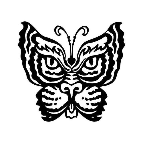 Tribal Tiger Butterfly 6 Vinyl Sticker