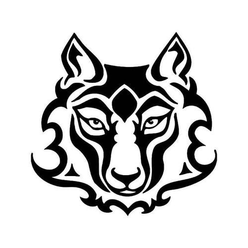 Tribal Wolf 1 Vinyl Sticker