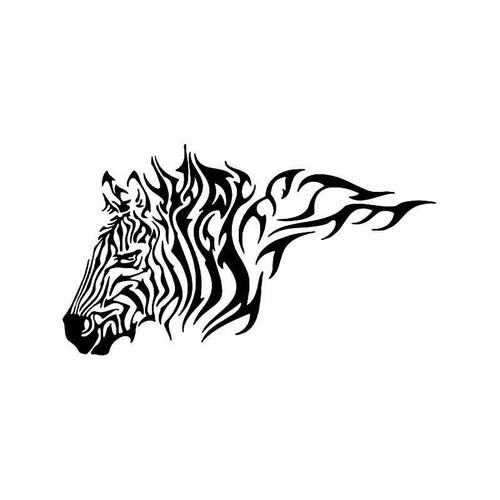 Tribal Zebra Africa Animal Vinyl Sticker
