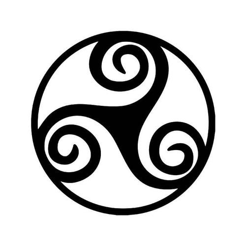 Triskelion Celtic Symbol Vinyl Sticker
