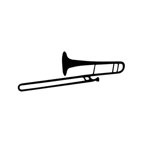 Trombone Music Vinyl Sticker