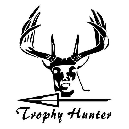 Trophy Hunter Deer Buck Hunting Vinyl Sticker