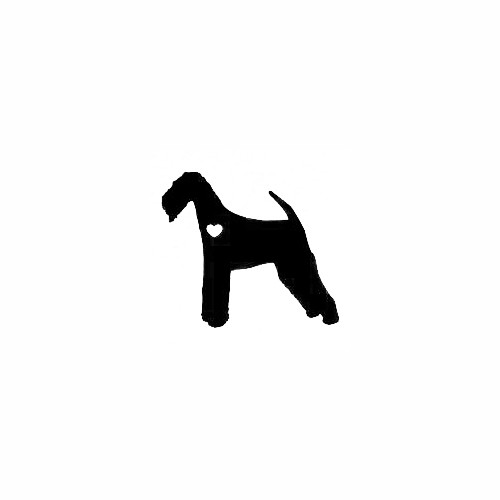 Airedale Terrier With Heart Decal Size option will determine the size from the longest side Industry standard high performance calendared vinyl film Cut from Oracle 651 2.5 mil Outdoor durability is 7 years Glossy surface finish
