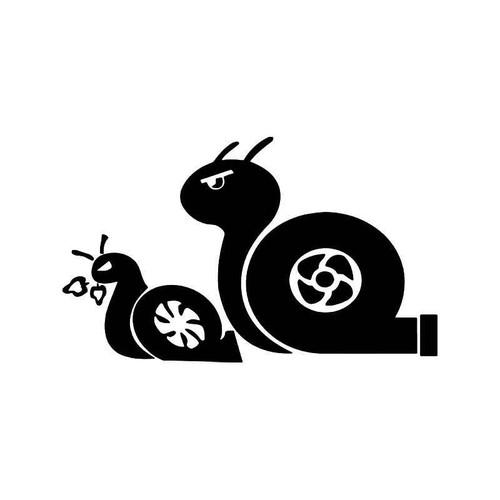 Twin Turbo Snails Boost Nos Jdm Japanese Vinyl Sticker