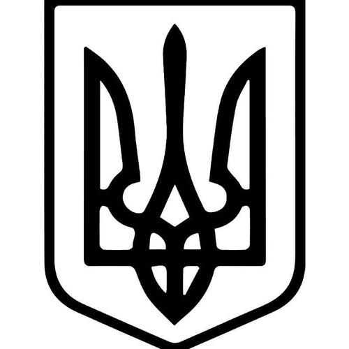 Ukranian Coat Of Arms Vinyl Sticker
