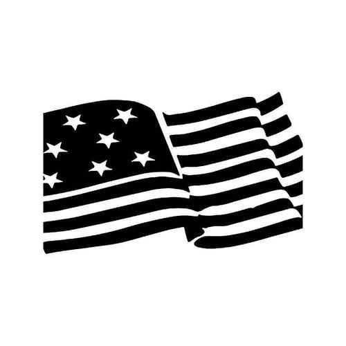 Usa Flag 2 Vinyl Sticker