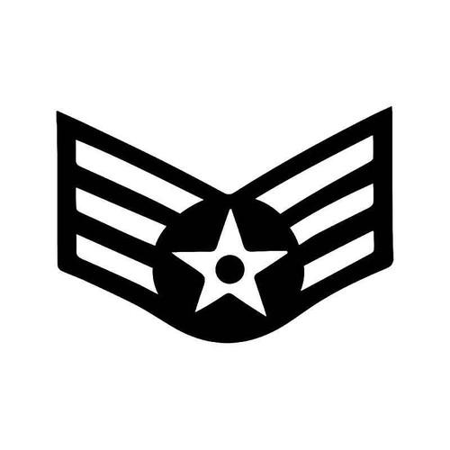 Us Air Force E4 Insignia Vinyl Sticker