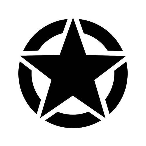 Us Army Military Star Ww2 Vinyl Sticker
