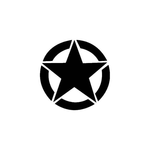 Us Army Star 2 Vinyl Sticker