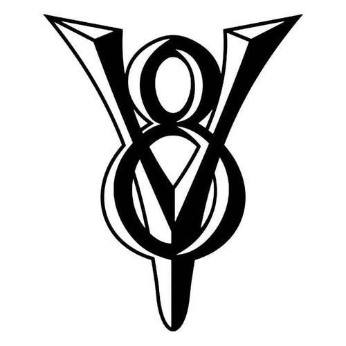 V8 Engine 2 Vinyl Sticker