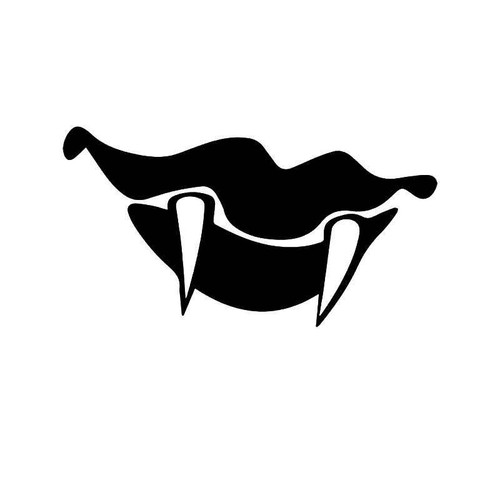 Vampire Fangs Lips Vinyl Sticker