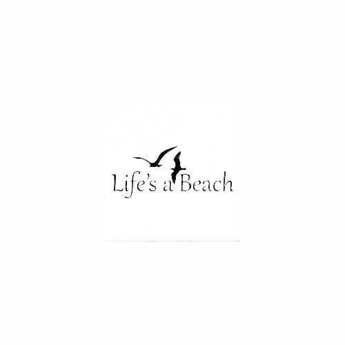 Life's A Beach Decal Size option will determine the size from the longest side Industry standard high performance calendared vinyl film Cut from Oracle 651 2.5 mil Outdoor durability is 7 years Glossy surface finish