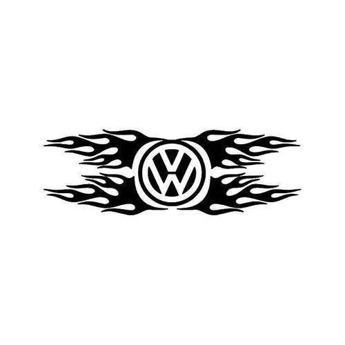 Volkswagen Flames Vinyl Sticker