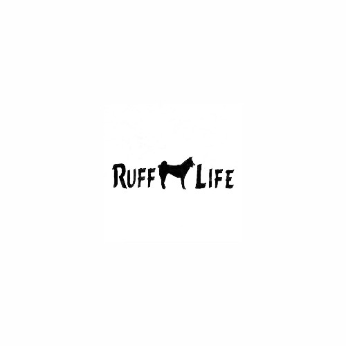 Akita Ruff Life Decal Size option will determine the size from the longest side Industry standard high performance calendared vinyl film Cut from Oracle 651 2.5 mil Outdoor durability is 7 years Glossy surface finish