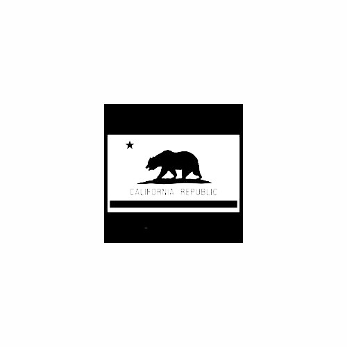 California Flag Cut Out Decal Size option will determine the size from the longest side Industry standard high performance calendared vinyl film Cut from Oracle 651 2.5 mil Outdoor durability is 7 years Glossy surface finish